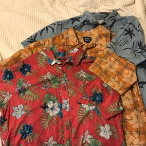 Go Hawaiian!  Three cool print shirts!